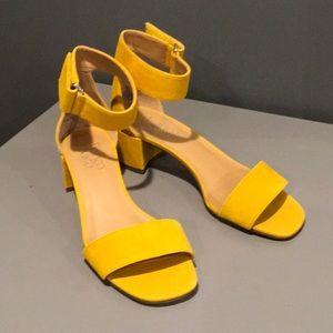 Franco Sarto Block Heel Summer Yellow Sandal